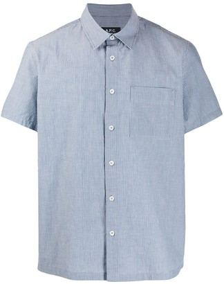 A.P.C. Chambray Short Sleeve Shirt