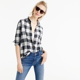 J.Crew Petite boy shirt in charcoal buffalo plaid