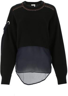 Chloé Sheer Panel Sweater