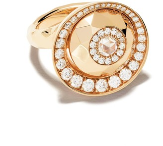 David Morris 18kt rose gold Cut Forever Single Disc ring