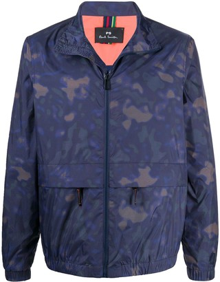 Paul Smith Camouflage-Print Funnel-Neck Jacket