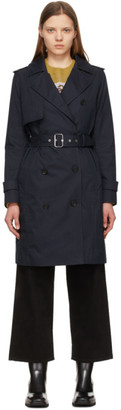 Mackage Navy Down Isla 2-In-1 Trench Coat
