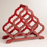 Red Hand-Painted Taj Wine Rack
