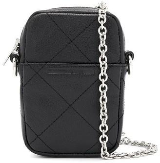 McQ Check Stitch Logo Crossbody Bag