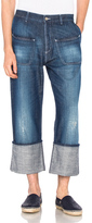 Loewe Patch Pocket Jeans in Blue.