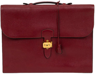 One Kings Lane Vintage Hermes Burgundy Epsom Briefcase - 1996 - Vintage Lux