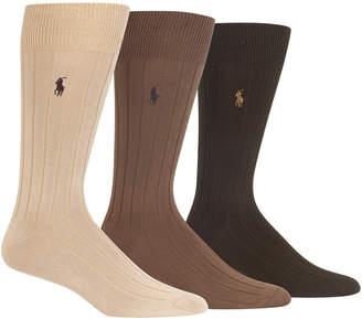 Polo Ralph Lauren Men 3-Pk. Super-Soft Ribbed Dress Socks