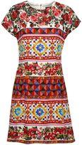 Dolce & Gabbana Mambo Print Fitted Dress