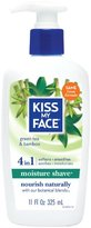 Kiss My Face Moisture Shave Natural Shaving Cream, Green Tea & Bamboo Shaving Soap, 11 Ounce