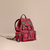 Burberry The Medium Rucksack in Python Print Nylon and Leather
