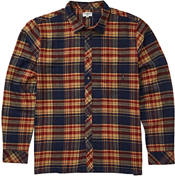 Billabong Coastline Plaid Flannel Shirt