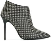 Giuseppe Zanotti Design pointed toe ankle boots - women - Leather/metal - 38