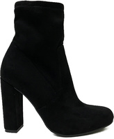 Bamboo Black Faux Suede Living Bootie