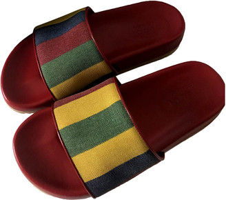 Gucci Web Red Cloth Sandals