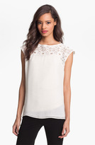 Cap Sleeve Lace Shell