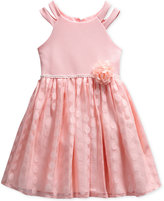 Sweet Heart Rose Knit Dress, Little Girls (2-6X)