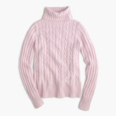 J.Crew Cambridge cable chunky turtleneck sweater