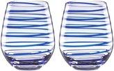 Kate Spade Charlotte St Crystal Stemless Wine Glass Set