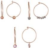 Lauren Conrad Rose Gold Tone Nickel Free Hoop Earring Set
