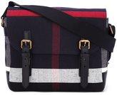 Burberry plaid messenger bag