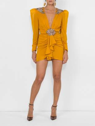 Dundas embellished silk dress