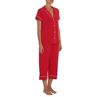 Eberjey Gisele Ss Crop Pj Set Boxed Haute Red Xs