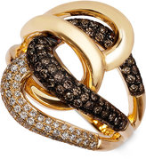 LeVian Le Vian Chocolatier® Diamond Twist Ring (1 ct. t.w.) in 14k Gold