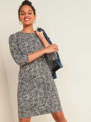 Old Navy Ponte-Knit Long-Sleeve Sheath Dress for Women