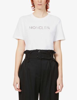 Moncler Logo-embellished cotton-jersey T-shirt