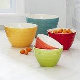 Crate & Barrel Aqua Baker Nesting Bowls, Set of 5