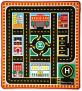 Melissa & Doug Round The City Rescue 39-Inch x 36-Foot Rug and Car Set