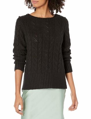 Kensie Women's Button Shoulder Sweater
