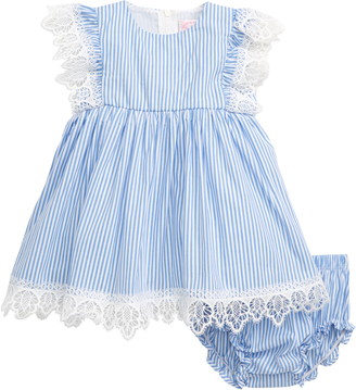 Popatu Lace & Stripe Pinafore Dress