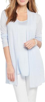Nic+Zoe Lightweight Long Linen Blend Cardigan