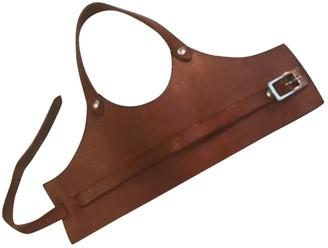 Maison Martin Margiela Brown Leather Bracelets