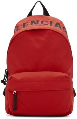 Balenciaga Red Small Wheel Backpack