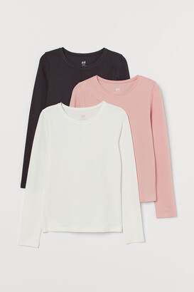 H&M 3-pack Jersey Tops - Pink
