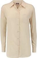 DKNY Stretch-silk crepe de chine shirt