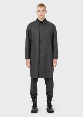 Emporio Armani Plaid Wool Coat