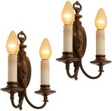 Rejuvenation Pair of Classical Revival Double Candle Sconces c1928
