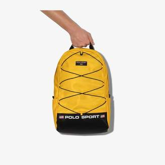 Polo Ralph Lauren yellow vintage logo sports backpack