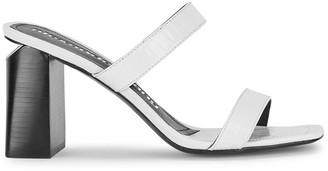Alexander Wang Hayden 90 white leather sandals
