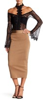 Wow Couture Long Bodycon Pencil Skirt