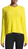 Rag & Bone Valentina Cropped Ribbed Cashmere Sweater, Yellow