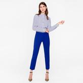 Paul Smith Women's Slim-Fit Cobalt Blue Wool-Hopsack Trousers