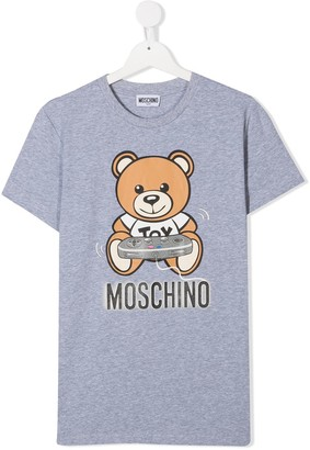 MOSCHINO BAMBINO TEEN Teddy Bear cotton T-shirt