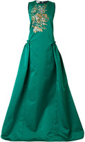 Antonio Berardi embroidered full dress - women - Cotton/Wool - 42