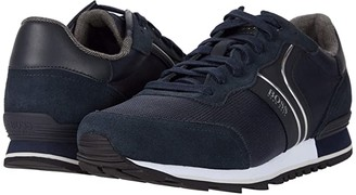 HUGO BOSS Parkour Low Top Sneaker by BOSS (Dark Blue) Men's Shoes