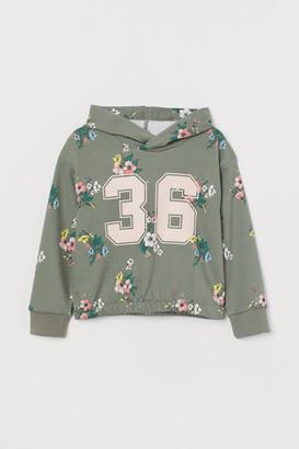 H&M Printed Hoodie - Green