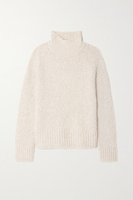 Vince Wool, Cashmere And Silk-blend Boucle Sweater - Beige